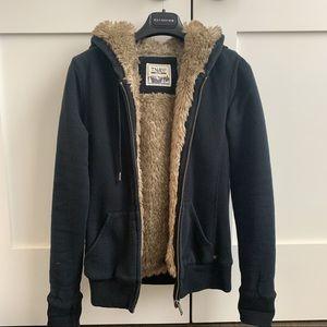 Aritzia TNA pacific Fur lined hoodie